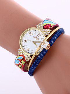 Faux Leather Wrist Watch - Sapphire Blue