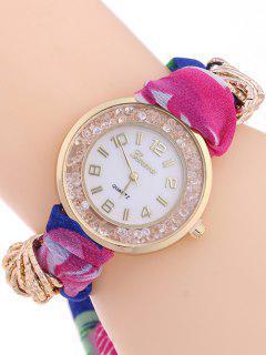 Gauze Braided Wrist Watch - Rose Madder
