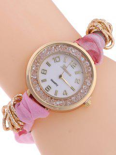 Gauze Braided Wrist Watch - Pink
