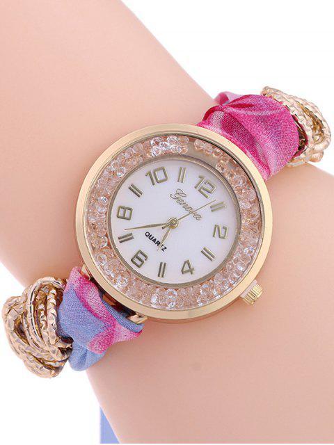 lady Gauze Braided Wrist Watch - AZURE  Mobile