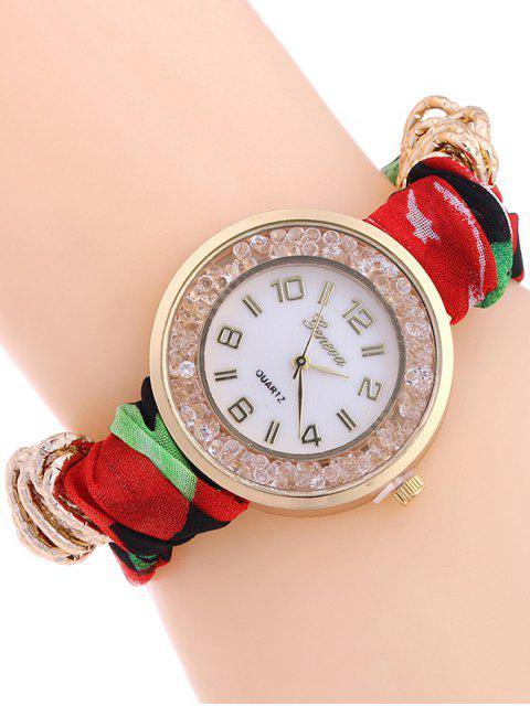 hot Gauze Braided Wrist Watch - RED  Mobile