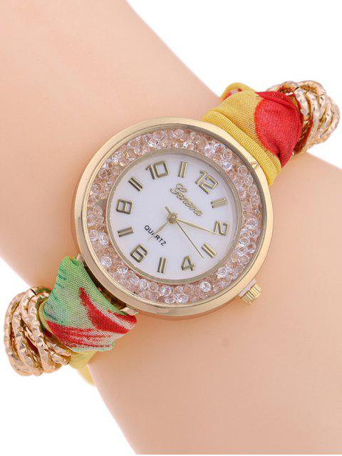 outfits Gauze Braided Wrist Watch - YELLOW  Mobile