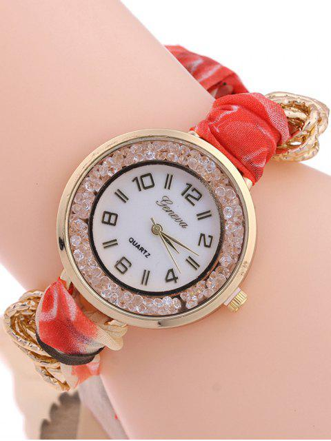 shop Gauze Braided Wrist Watch - VERMILION  Mobile