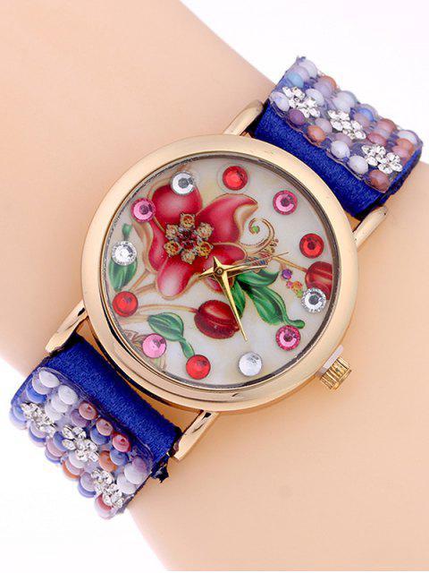 buy Studded Analog Bracelet Watch - SAPPHIRE BLUE  Mobile