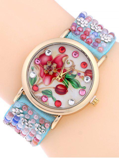 womens Studded Analog Bracelet Watch - AZURE  Mobile