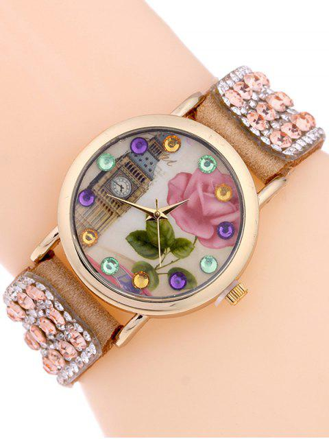 Décor Bracelet Montre de Strass - Camel  Mobile
