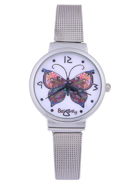 new Steel Band Colorful Butterfly Quartz Watch - AMETHYST