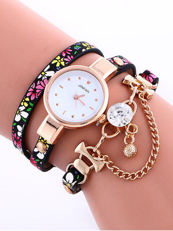 lady Chain Beaded Layered Watch - YELLOW