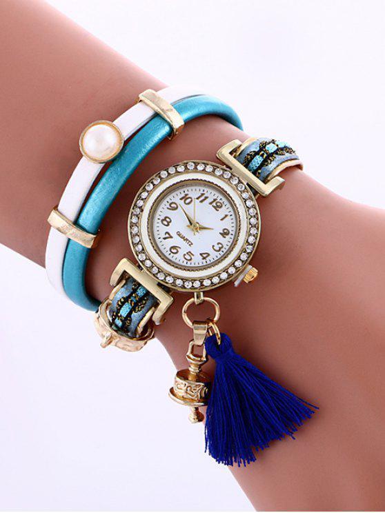 lady Faux Pearl Fringe Watch - LAKE BLUE