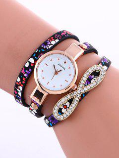 Layered Infinity Quartz Watch - Purple