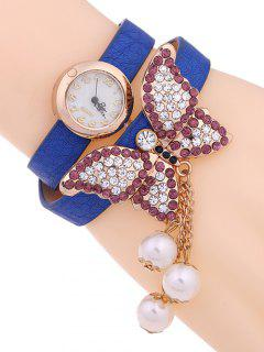 Layered Butterfly Watch - Blue