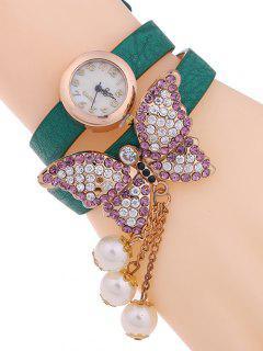 Layered Butterfly Watch - Green