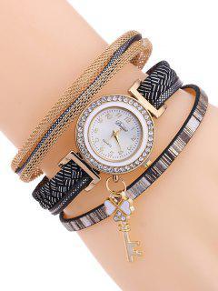 Clover Key Layered Watch - Black