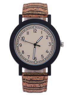Analog Quartz Watch - Light Brown
