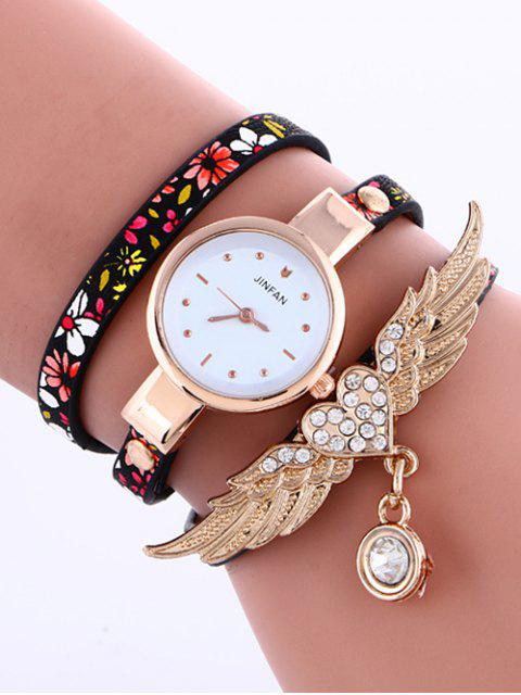 shops Heart Wings Layered Watch -   Mobile