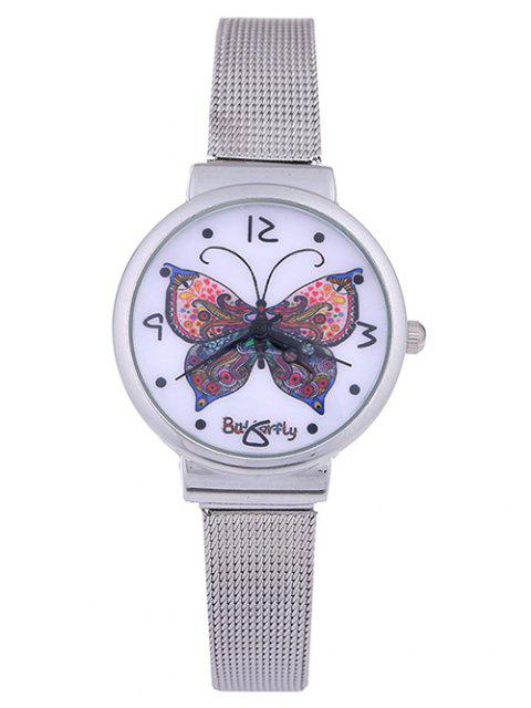 new Steel Band Colorful Butterfly Quartz Watch - AMETHYST  Mobile