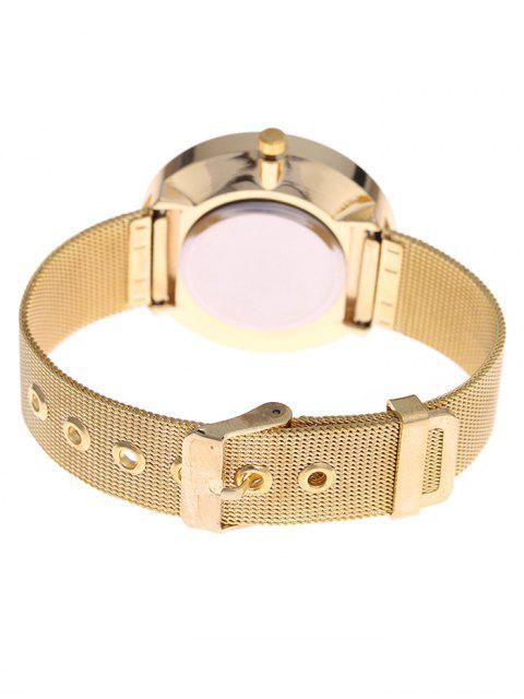 Montre à quartz bracelet en maille alliage - Or  Mobile