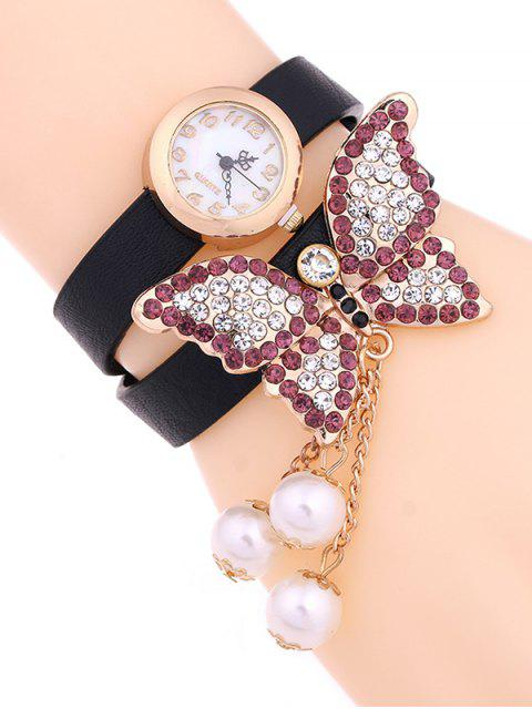 online Layered Butterfly Watch - BLACK  Mobile