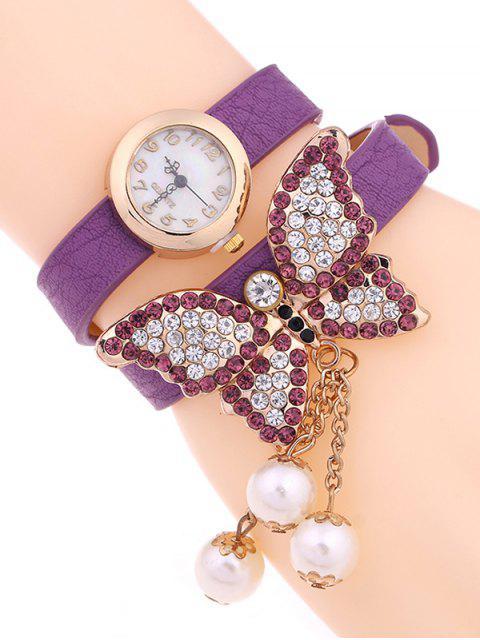 Mariposa Capa de Reloj - Morado Claro  Mobile