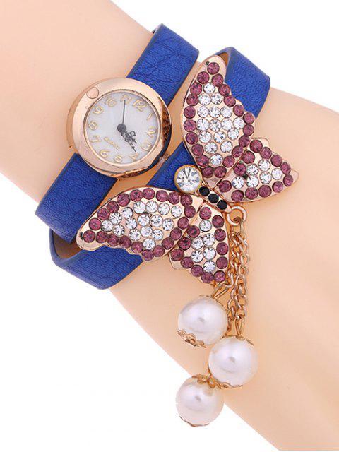 Mariposa Capa de Reloj - Azul  Mobile