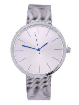 Simple Steel Mesh Band Quartz Watch