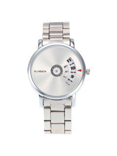 Steel Band Digital Analog Watch - White