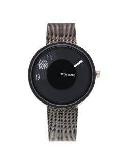 Analógico Digital De Esfera Embellecido De Reloj - Negro