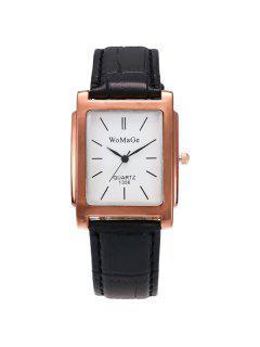 Geometric Dial Plate Quartz Watch - Golden