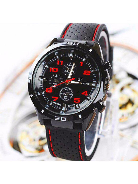 affordable Digital Analog Sport Watch - RED