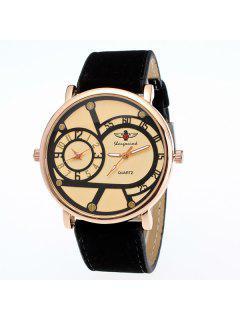 Reloj De Cuarzo De La Esfera De La Vendimia Grande - Negro