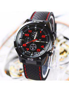 Digital Analog Sport Watch - Red
