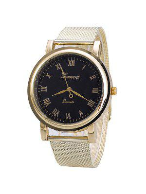 Vintage Roman Numerals Steel Quartz Watch
