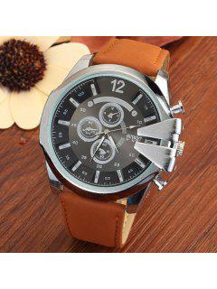 Vintage Stainless Steel Sport Quartz Watch - Antique Brown