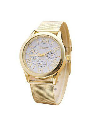 Roman Numerals Analog Alloy Quartz Watch