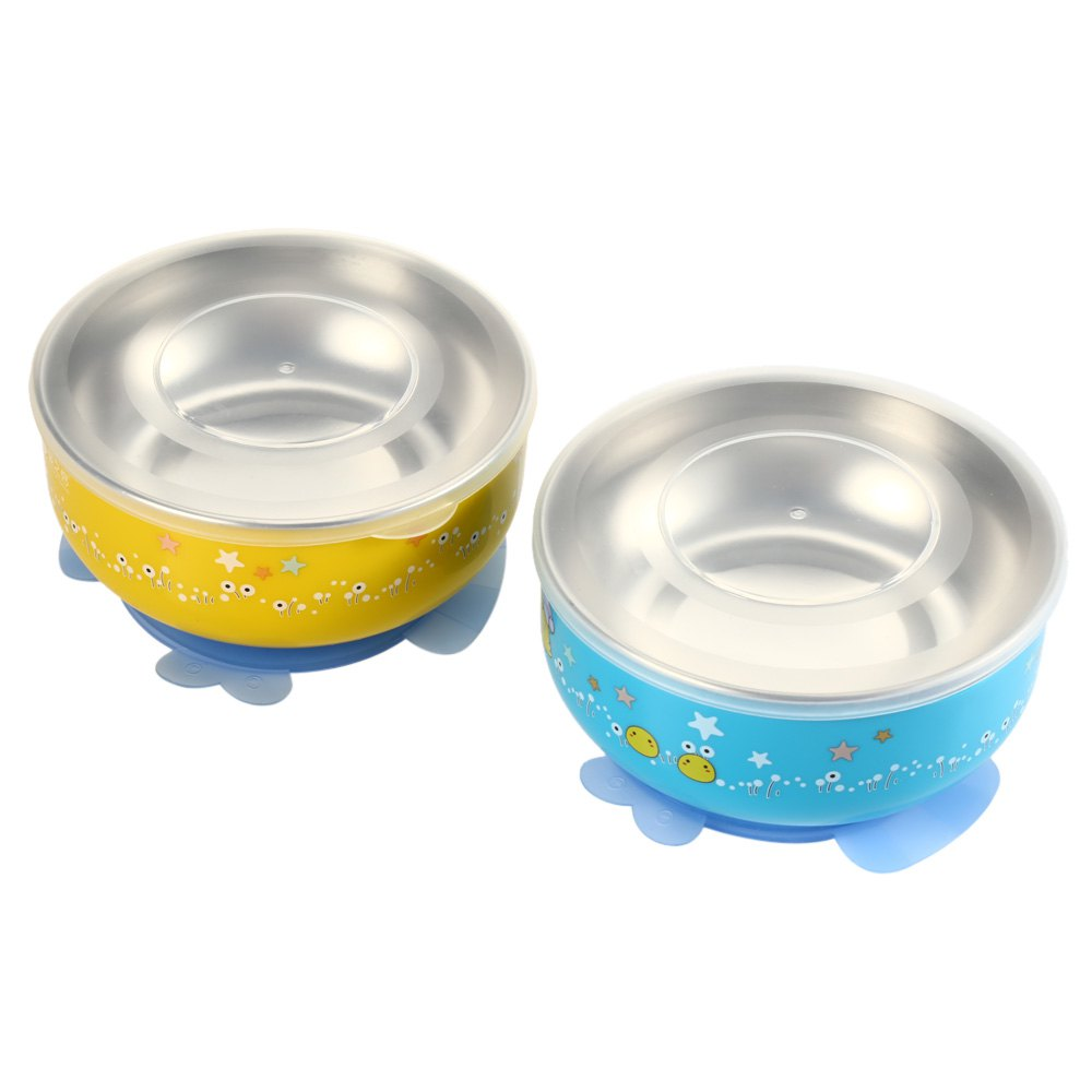 2PCS BabyMatee Baby Infant Bowl with Sealed Cover 202428901