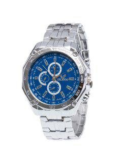 Stainless Steel Analog Quartz Watch - Blue