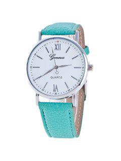Roman Numerals Dial Artificial Leather Watch - Mint
