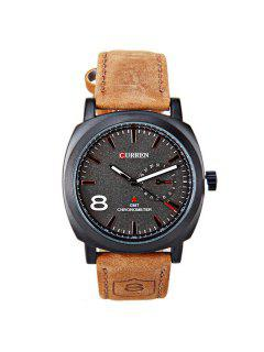 Artificial Leather Cloth Watch - Black