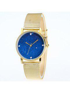 Reloj De Acero Inoxidable De Dial De Babysbreath - Dorado
