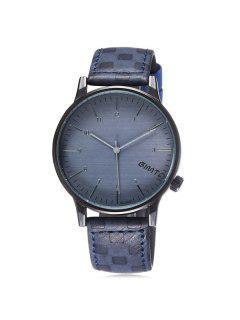GIMTO Artificial Leather Quartz Vintage Watch - Blue