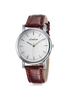 Artificial Leather Wrist Watch - Silver