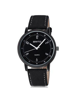 GIMTO Artificial Leather Cloth Wrist Watch
