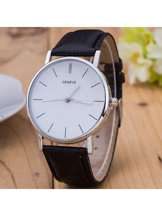 Vintage Leather Leather Watch - Preto