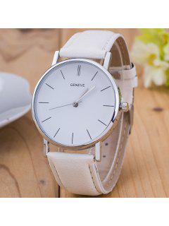 Vintage PU Leather Watch - White