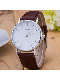Vintage PU Leather Watch - Brown