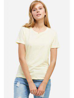 ZANSTYLE Camiseta Blanca De Cuello Redondo Para Mujer  - Palomino S