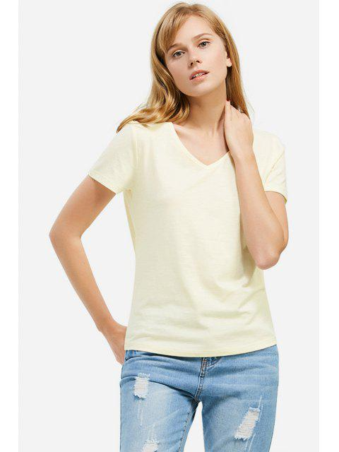 outfits ZAN.STYLE V-neck T-shirt - PALOMINO S Mobile