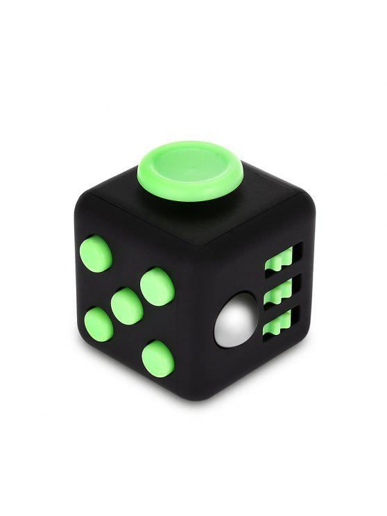 online Fidget Magic Cube Style Stress Reliever Pressure Reducing Toy for Office Worker - BLACK AND GREEN