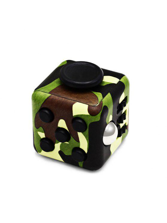 new Fidget Magic Cube Style Stress Reliever Anti-stress Toy for Office Worker - ARMY GREEN CAMOUFLAGE