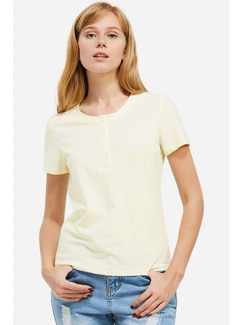 outfit ZAN.STYLE Half Button T-shirt - PALOMINO 2XL Mobile